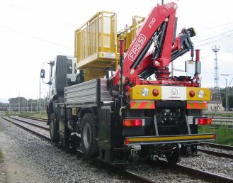 Špeciálne zariadenie pre železničné žeriavy