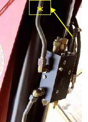 Snímač tlaku na valci hlavného ramena