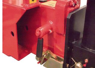 Mechanické istenie pri hydraulickom vysúvaní podpier
